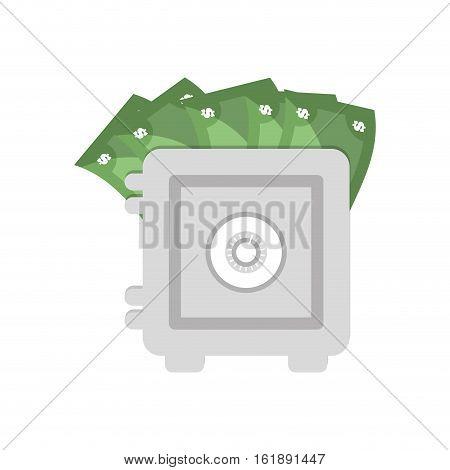 save box money cash bills vector illustration eps 10