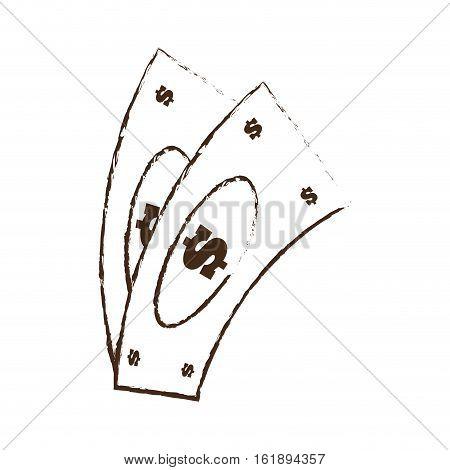 money bills dollar cash sketch vector illustration eps 10