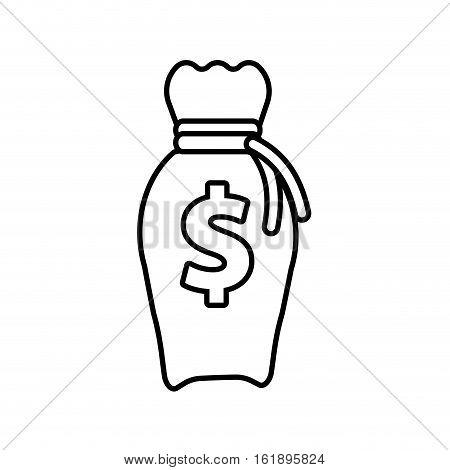money bag business finance line vector illustration eps 10