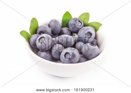 Fresh huckleberry isolated on a white background cutout