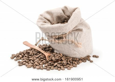 Brown coffee isolated on a white background cutout
