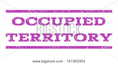 Occupied Territory watermark stamp. Text caption between horizontal parallel lines with grunge design style. Rubber seal stamp with dirty texture.