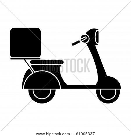 motorcycle scooter delivery food pictogram vector illustration eps 10