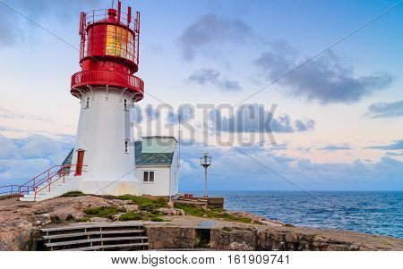Lindesnes Lighthouse In Norway