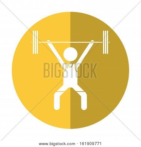 man weight lifter sport athlete shadow vector illustration eps 10