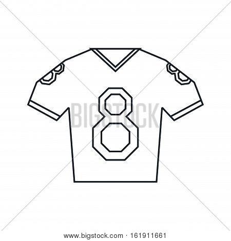 jersey american football tshirt uniform outline vector illustration eps 10