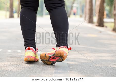 Ankle sprain while jogging in the park poster