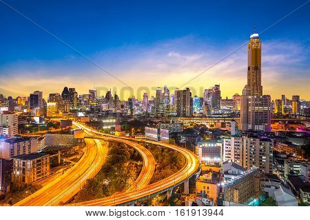 Bangkok Thailand downtown city skyline city view