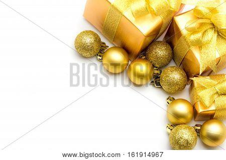 Gift box of Christmas festival on white background