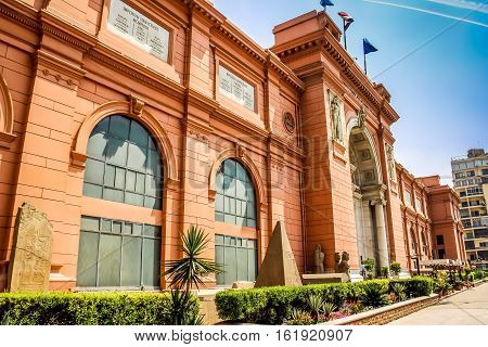 Cairo the Egyptian Museum in Cairo Egypt Africa.