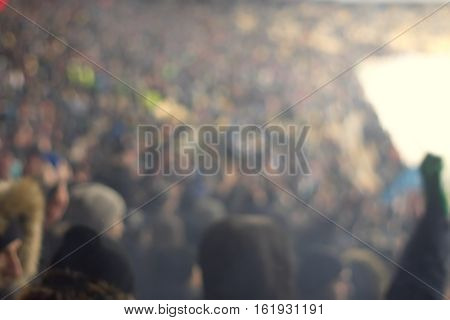 Background Of The Stadium, The Image Is Not In Focus