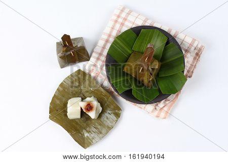 Steamed Flour Wrap Sweet Mashed Coconut As Khanom Sai Sii