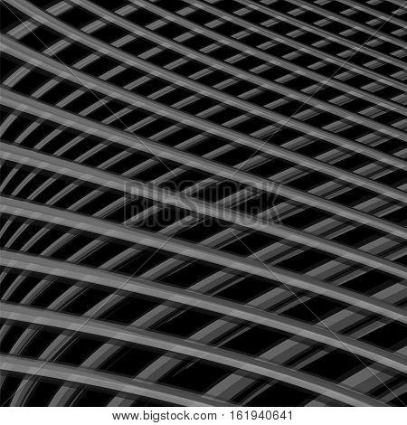 Design Monochrome Grid Illusion Background