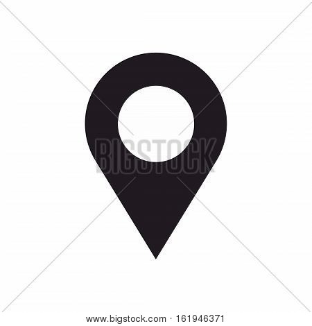 GPS location map pin icon isolated on white background. Global positioning system pin vector.