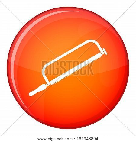Hacksaw icon in red circle isolated on white background vector illustration