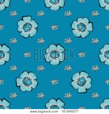 Abstract Floras pattern background. Vector texture illustration.