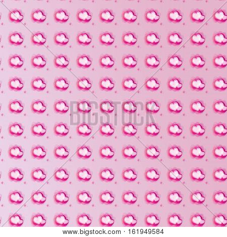 Seamless heart-shape pattern is created for Valentine's Day concept