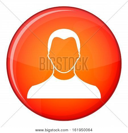 User icon in red circle isolated on white background vector illustration