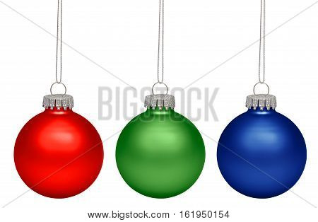 Christmas baubles isolated on white background. RGB