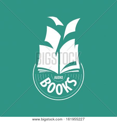 logo audio books fly away sheets. Vector illustration of icon