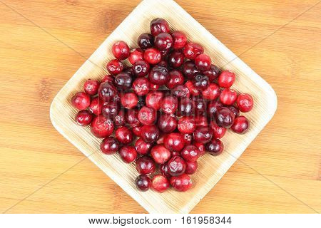 Cranberry red fresh small vaccinium oxycoccos berry
