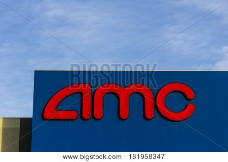 Las Vegas - Circa December 2016: Amc Movie Theater Location. Amc Theaters Is An American Movie Theat