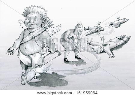 Cupid walks leaving behind women shot dead