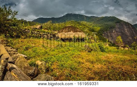 Traditional House In Wamena