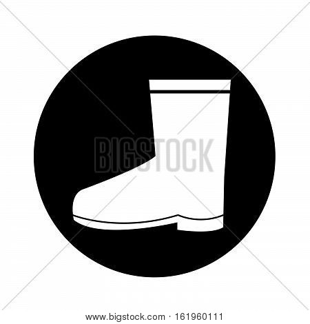 an images of Boot icon illustration design