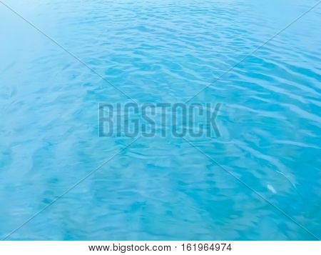 Clear blue sea water surface background texture