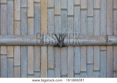 Dried Bamboo fence background, bamboo mat background