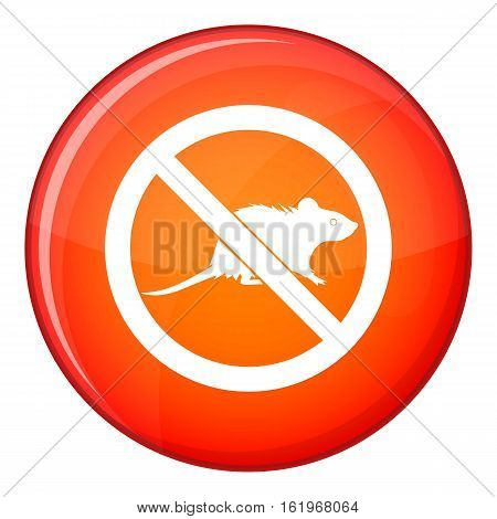 No rats sign icon in red circle isolated on white background vector illustration