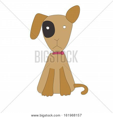 Dog cartoon design vector on white background