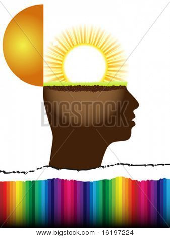 open mind with sun inside