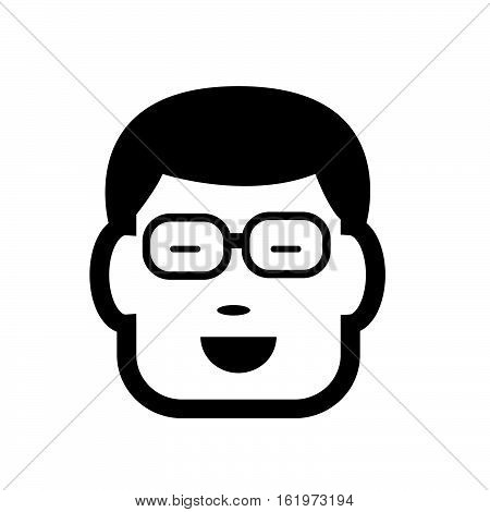 an images of people face icon illustration design