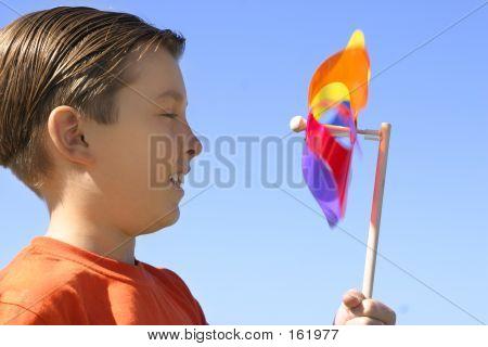 Boy With A Spinning Wheel Pinwheel