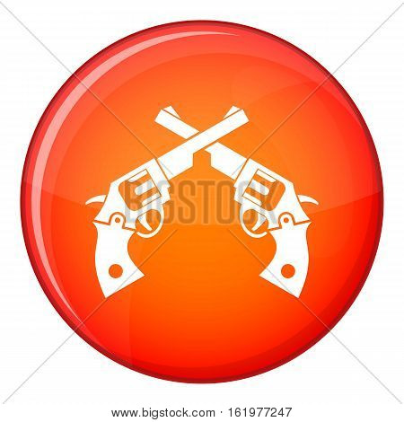 Revolvers icon in red circle isolated on white background vector illustration