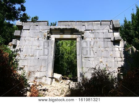 Ancient roman temple at Olympos / Kemer / Antalya