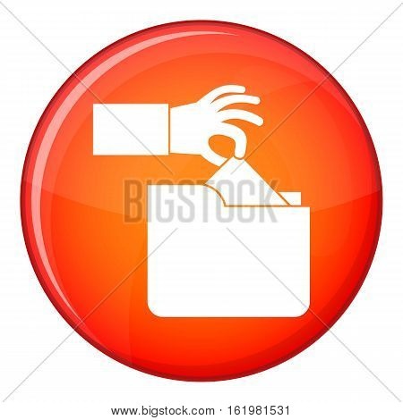 Robbery secret data in folder icon in red circle isolated on white background vector illustration