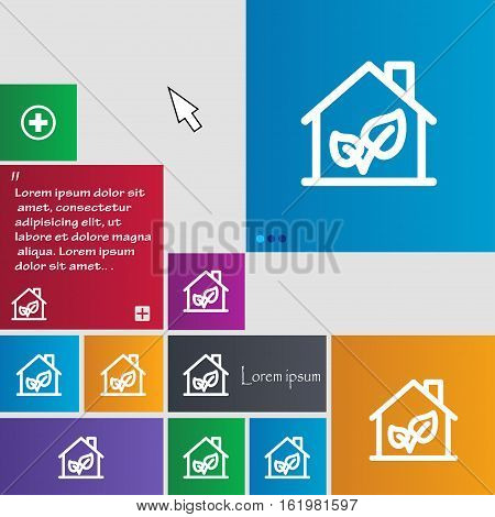 Bio Houses Icon Sign. Buttons. Modern Interface Website Buttons With Cursor Pointer. Vector