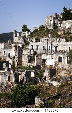 Karmylassos / Kayakoy is an abandoned village in Fethiye and nearly Oludeniz. Today Kayakoy village serves as a museum and is a historical monument.