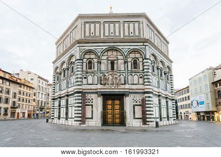 Florence Baptistery San Giovanni In Morning