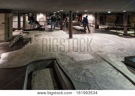 Pavement Of Ancient Church Santa Reparata In Crypt