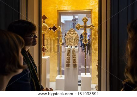 Room With Papal Clothes In Museo Opera Del Duomo