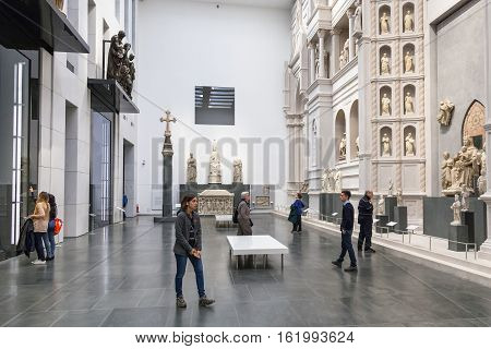 Hall With Original Gates In Museo Opera Del Duomo