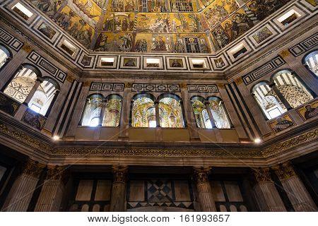Walls Of Florence Baptistery San Giovanni