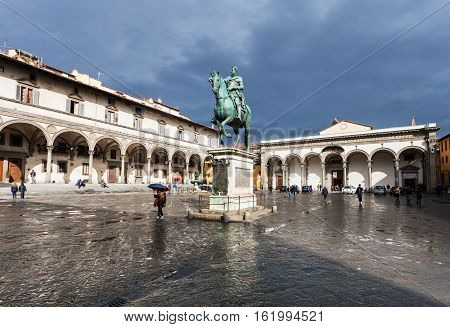 View Of Piazza Della Santissima Annunziata