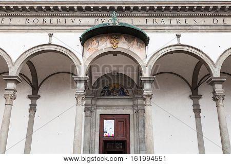 Gate Of Basilica Della Santissima Annunziata