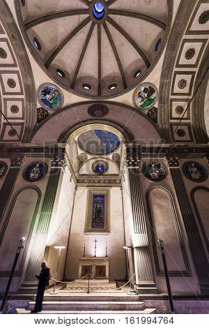Nave Of Pazzi Chapel In Basilica Di Santa Croce
