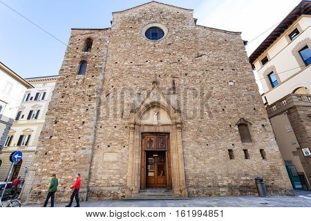 Facade Of Church Santa Maria Maggiore Di Firenze